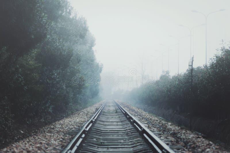 Железнодорожный туман стоковые изображения