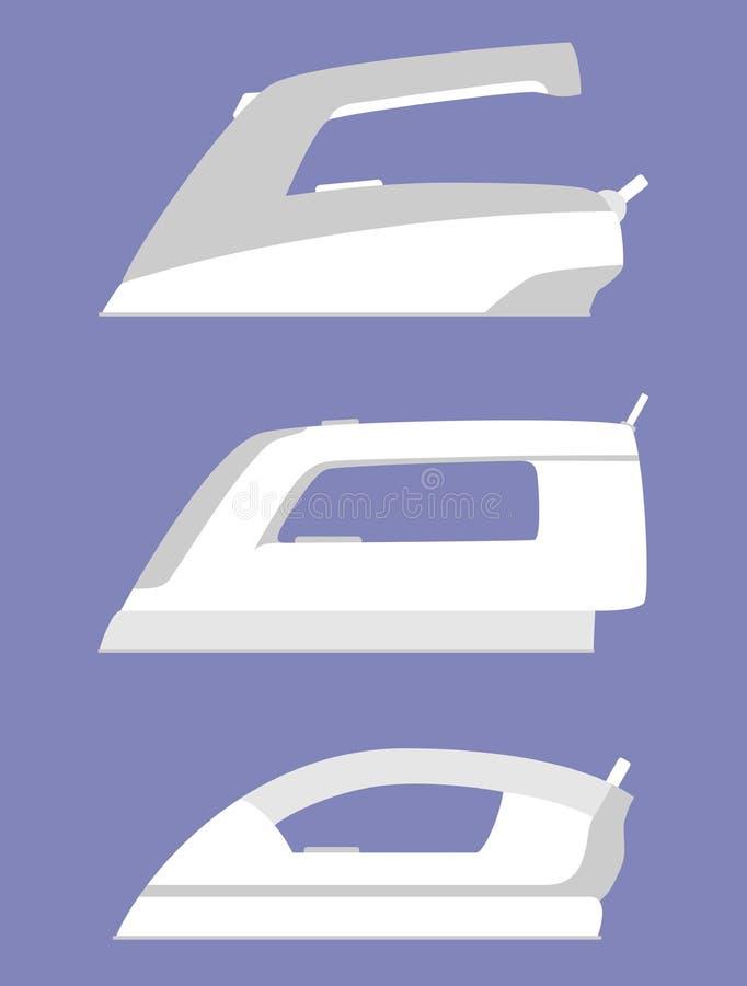 Железный простой изолированный значок Бытовой прибор Электрический утюг пара для clother Плоский стиль бесплатная иллюстрация