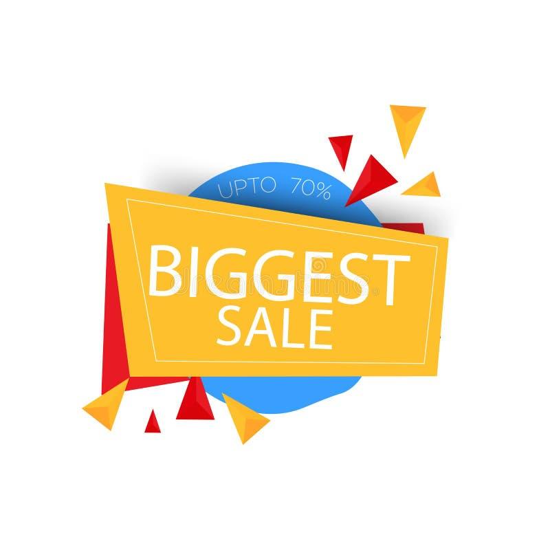 Желтая голубая красная самая большая скидка продажи 70% r Предложение большой продажи особенное Желтое голубое абстрактное особен иллюстрация штока