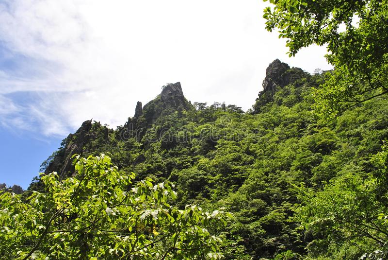 Желтая гора в Аньхое, Китае стоковое изображение