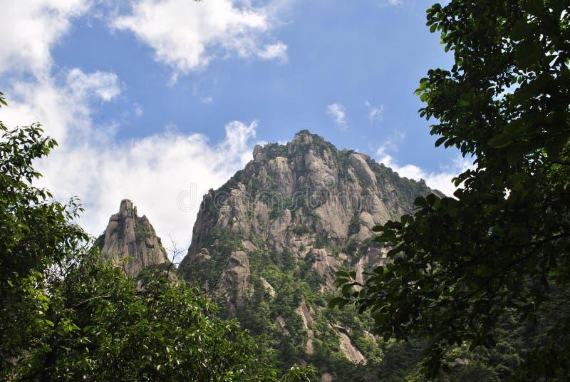 Желтая гора в Аньхое, Китае стоковые изображения rf