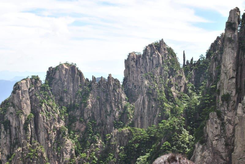 Желтая гора в Аньхое, Китае стоковое фото