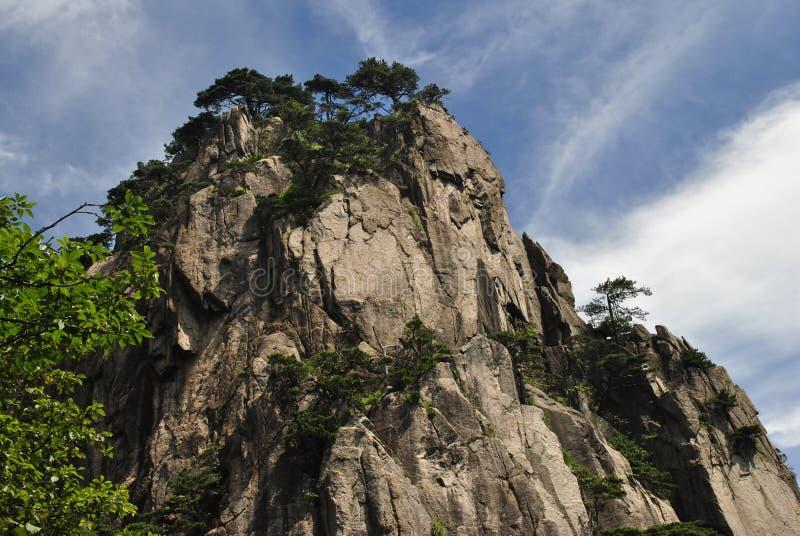 Желтая гора в Аньхое, Китае стоковое изображение rf