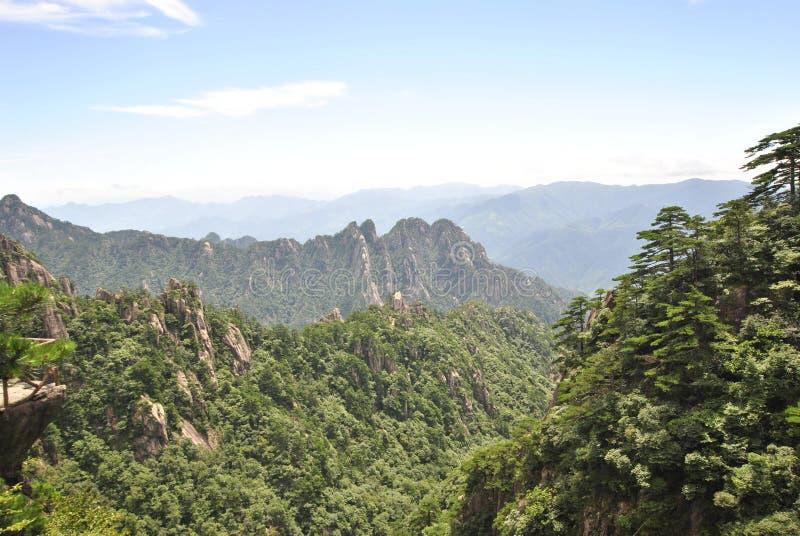 Желтая гора в Аньхое, Китае стоковая фотография