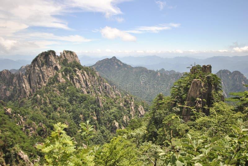 Желтая гора в Аньхое, Китае стоковые фотографии rf