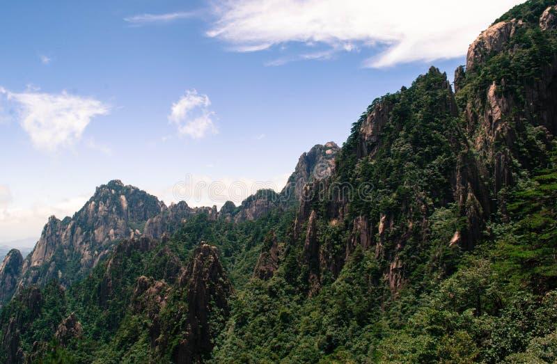 Желтая гора в Аньхое, Китае стоковая фотография rf