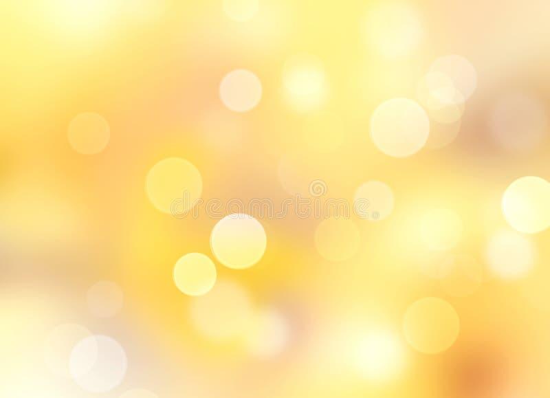 Желтая естественная запачканная предпосылка bokeh иллюстрация штока