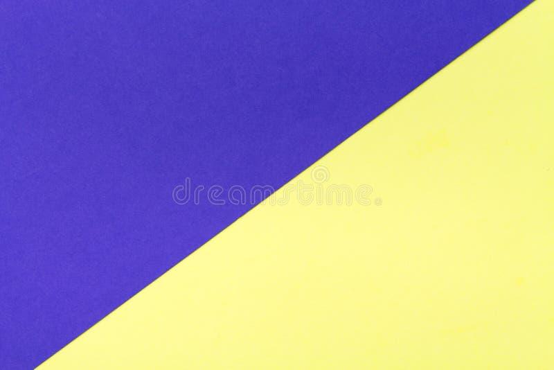 Желтая и голубая предпосылка текстуры картона цвета цвета тенденции стоковое изображение rf