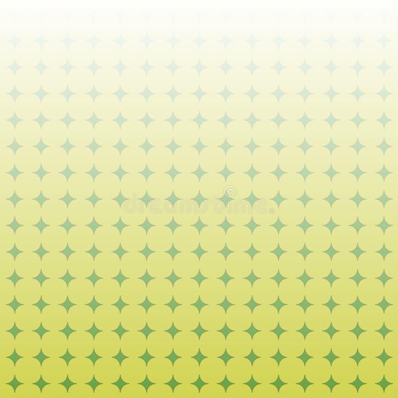 Желтая и зеленая геометрическая абстрактная предпосылка r иллюстрация штока