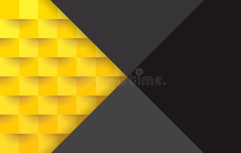 Желтая и черная геометрическая картина, абстрактный шаблон предпосылки иллюстрация штока