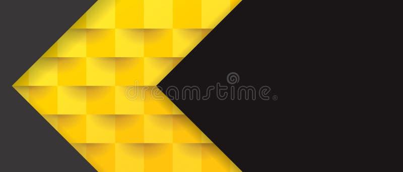 Желтая и черная геометрическая картина, абстрактный шаблон предпосылки бесплатная иллюстрация