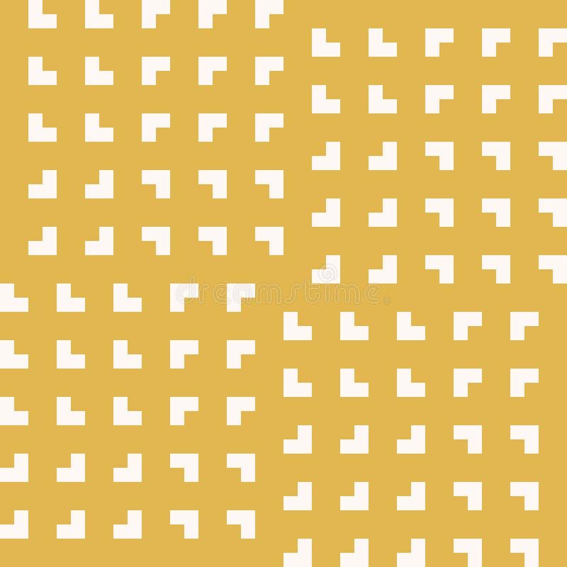 Желтая минималистская геометрическая безшовная картина с небольшими квадратами, решетка, сеть бесплатная иллюстрация