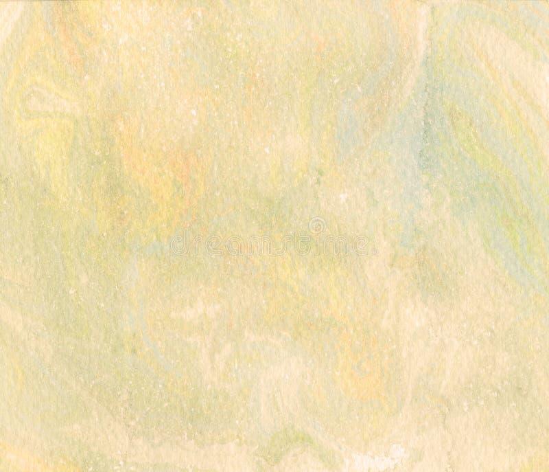 Желтая предпосылка акварели - абстрактная граница иллюстрация вектора