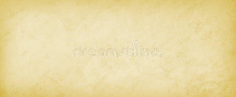 Желтая предпосылка с простым белым центром и темным дизайном границы и слабого мраморизованным каменным текстуры картины и старых бесплатная иллюстрация