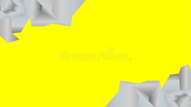Желтая предпосылка с рамкой утеса иллюстрация штока