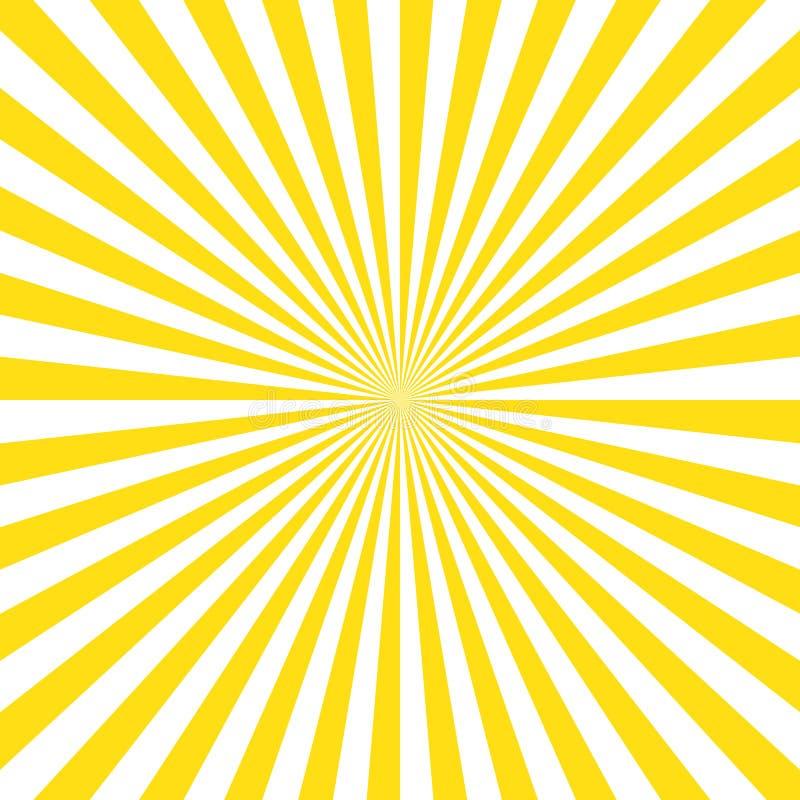 Желтая предпосылка sunrays нашивок Предпосылка вектора eps10 цвета Sunrays желтая иллюстрация штока
