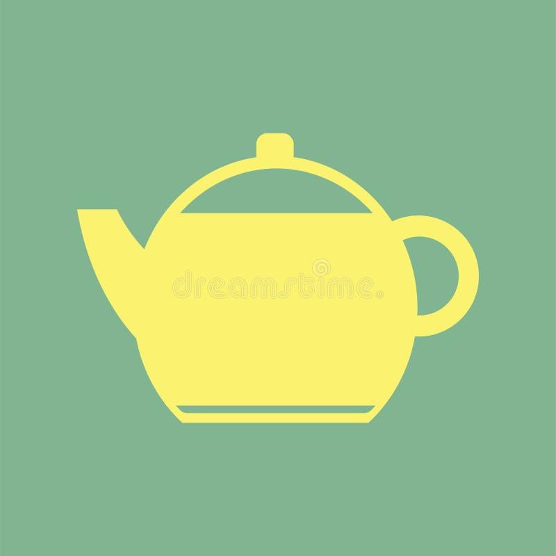Желтая простая иллюстрация значка чайника бесплатная иллюстрация
