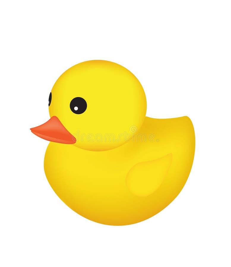 Желтая резиновая утка бесплатная иллюстрация
