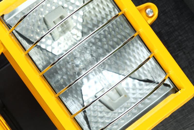 Желтая сцена блока фары стоковое изображение