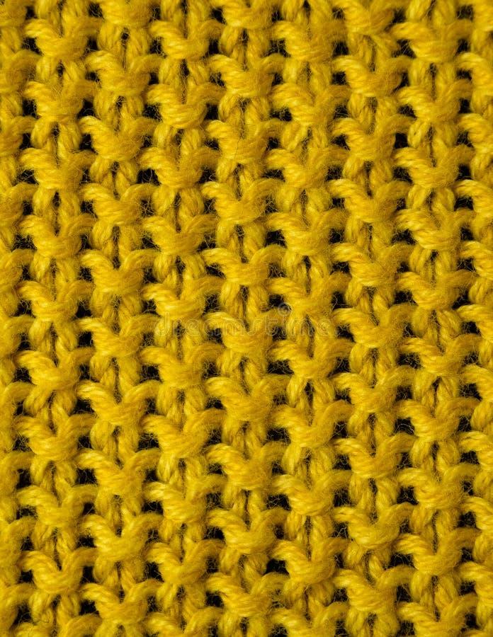 Желтая черная шерстяная текстура стоковые изображения
