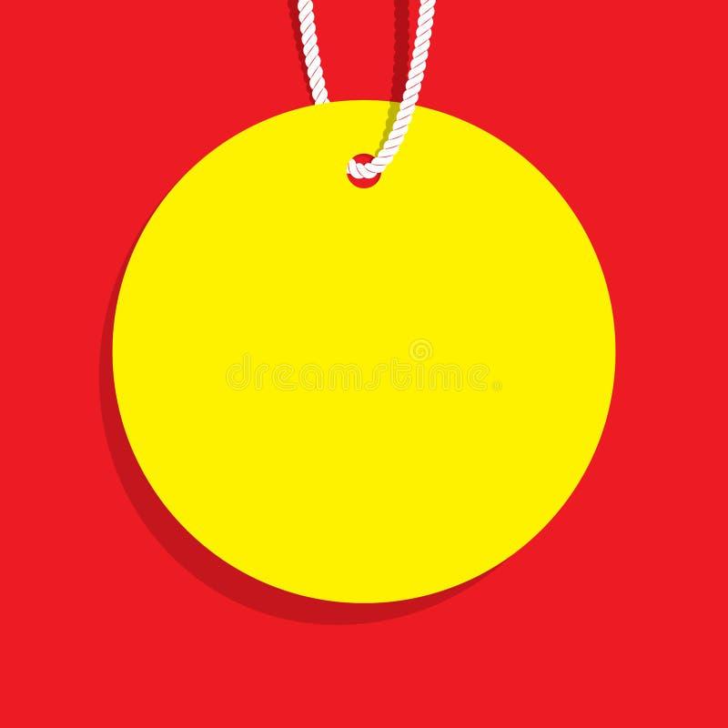 Желтое пустое знамя вебсайта формы круга ценника возглавляя desig бесплатная иллюстрация
