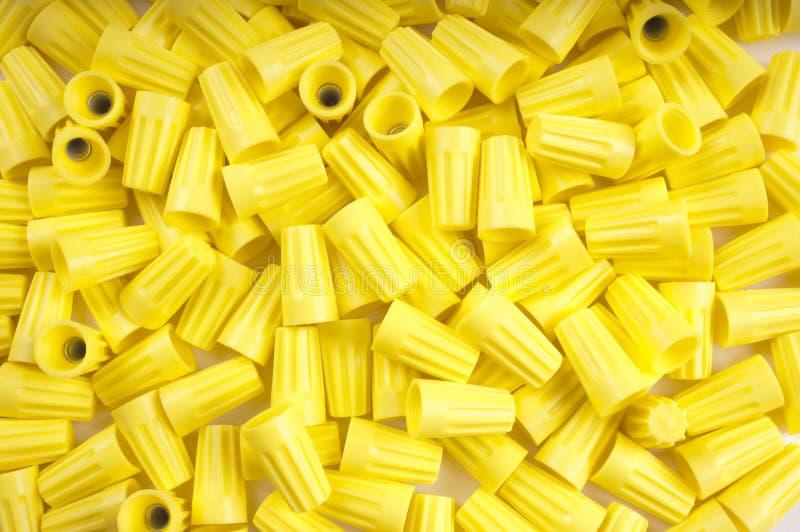 Желтые гайки провода стоковые фотографии rf