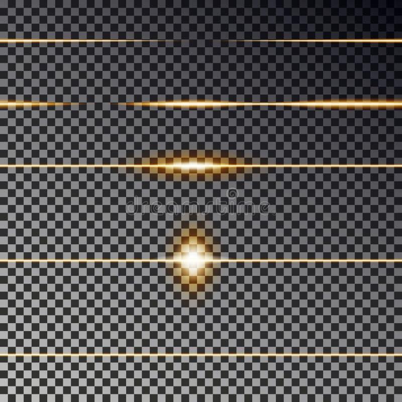 Желтые прозрачные линии собрание влияния Вектор пирофакела светлый Линия рассекателя безшовная бесплатная иллюстрация