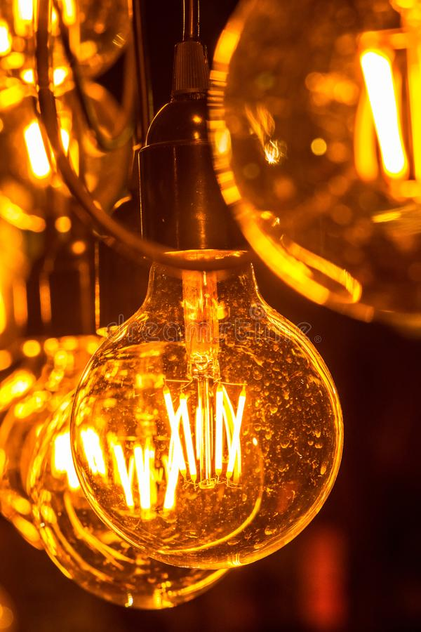 Желтые светы в строке стоковые фото