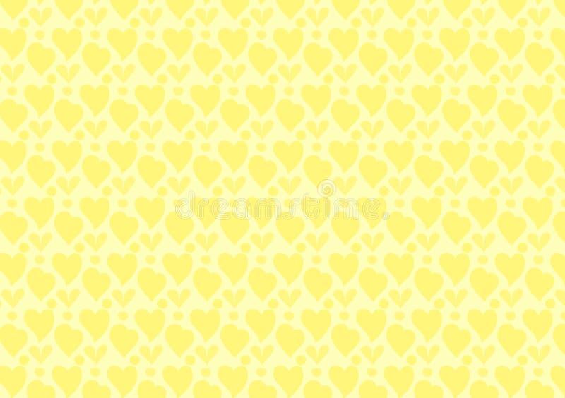 Желтые сердца и обои картины кругов иллюстрация вектора