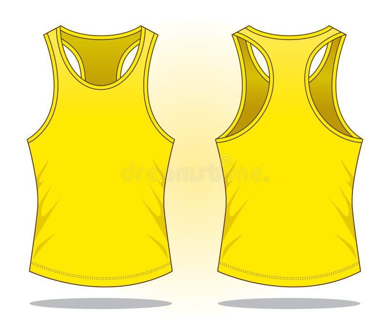 Желтый вектор верхней части танка для шаблона иллюстрация вектора