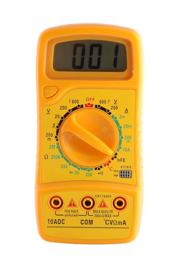 Желтый вольтамперомметр стоковое изображение