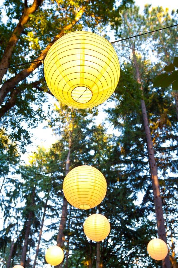 Желтый декор венчания стоковое изображение rf