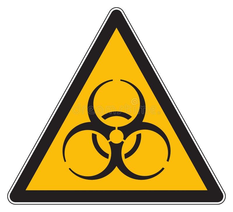 Желтый предупреждающий знак biohazard иллюстрация вектора
