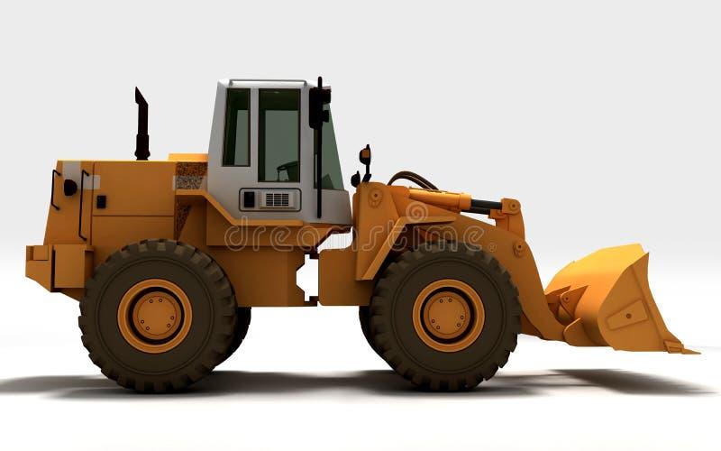 Желтый трактор иллюстрация штока