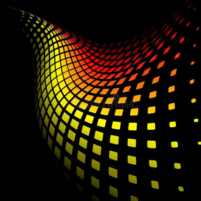 желтый цвет абстрактной предпосылки 3d динамически красный иллюстрация вектора