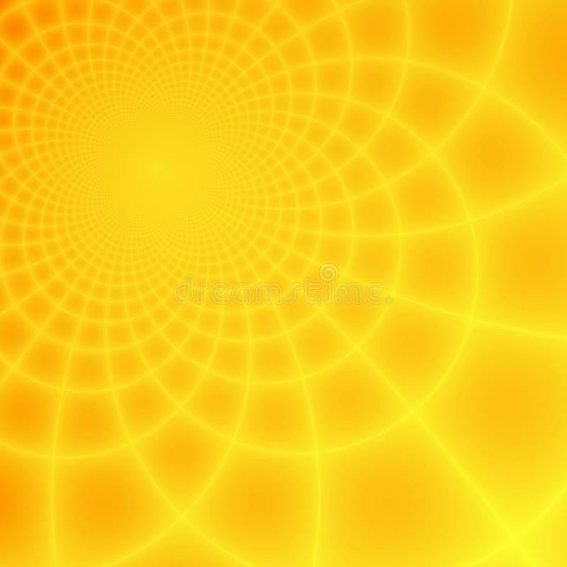 желтый цвет абстрактной фрактали предпосылки померанцовый иллюстрация вектора
