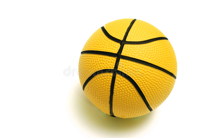 желтый цвет баскетбола стоковая фотография rf