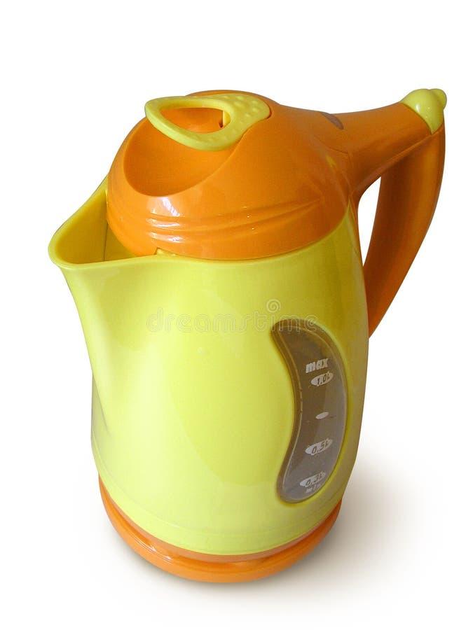 желтый цвет бесшнурового чайника кувшина померанцовый стоковое фото rf