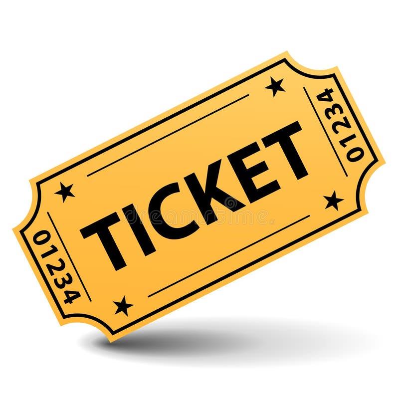 желтый цвет билета иллюстрация штока