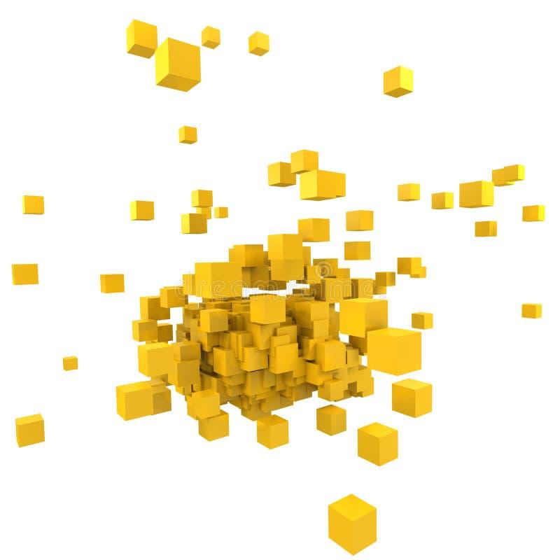 желтый цвет блков иллюстрация штока