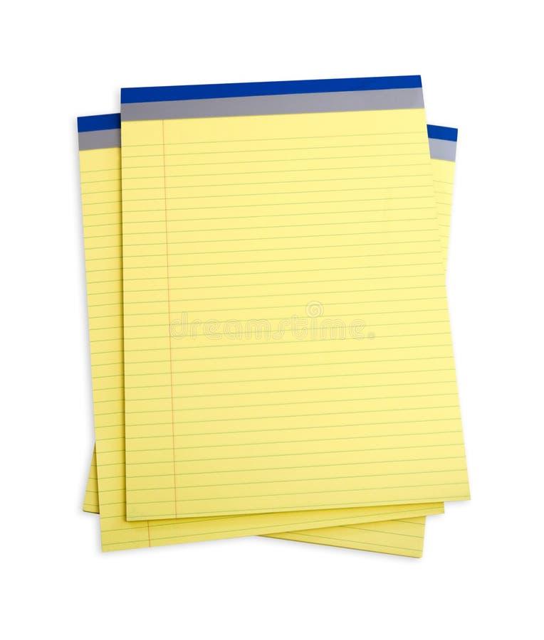 желтый цвет блокнотов стоковые изображения