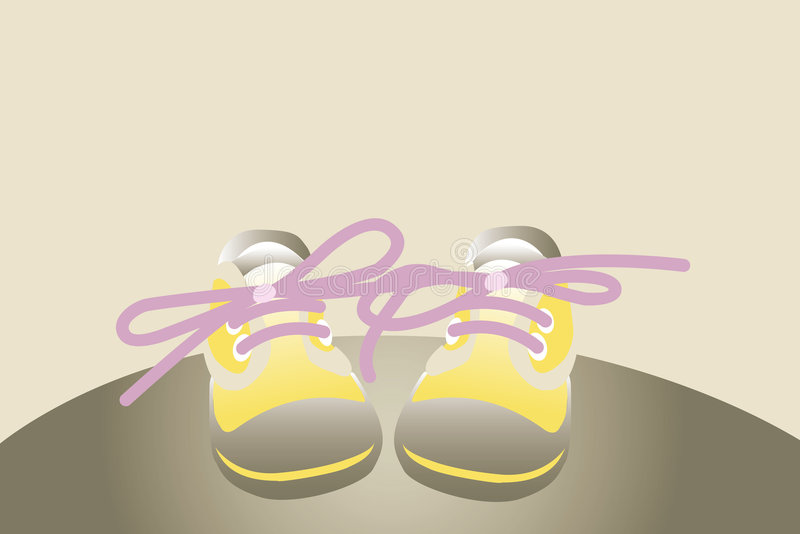 желтый цвет ботинок иллюстрация вектора