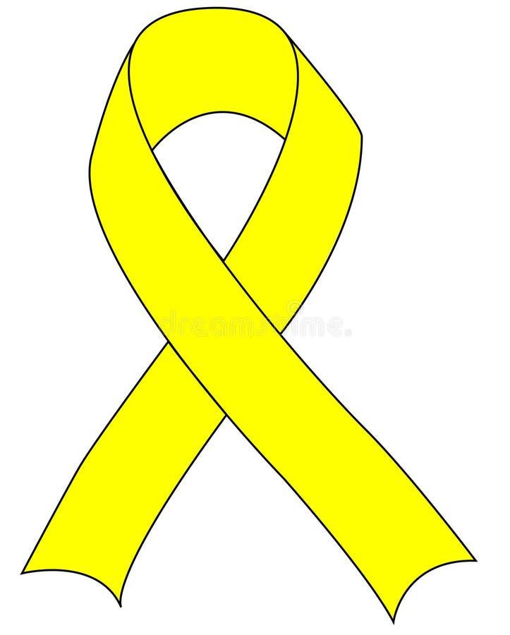 желтый цвет войск поддержки тесемки иллюстрация вектора