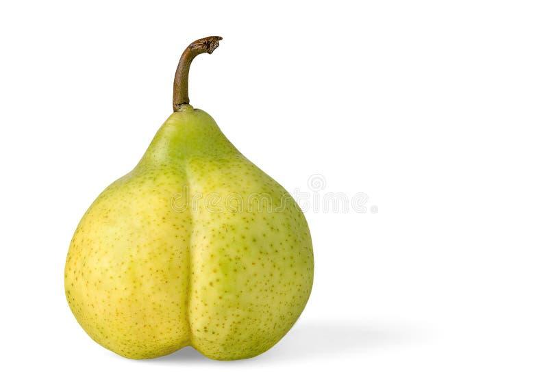 желтый цвет груши сексуальный стоковое изображение rf
