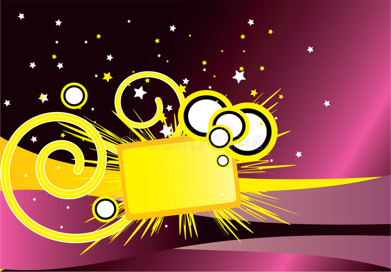 Download желтый цвет знамени иллюстрация вектора. иллюстрации насчитывающей приглашение - 6855573