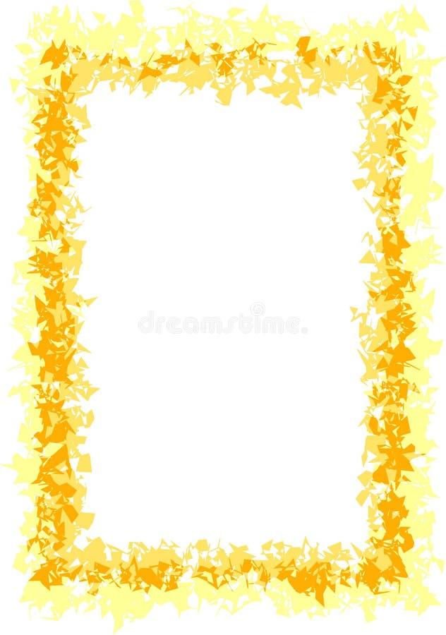 желтый цвет золота граници иллюстрация вектора