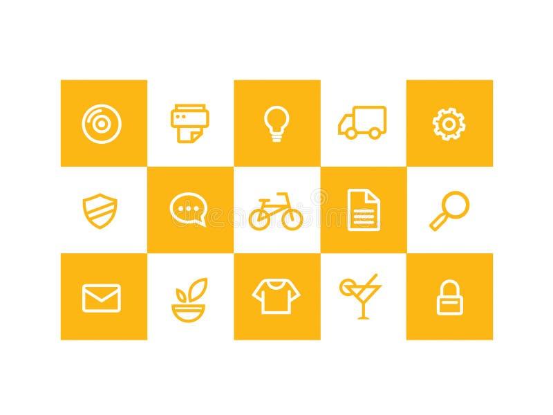 желтый цвет икон стоковые фото