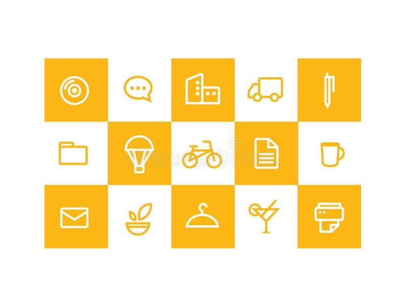 желтый цвет икон стоковое изображение rf