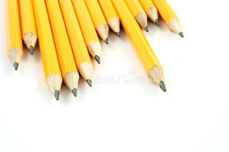 желтый цвет карандашей стоковые фото