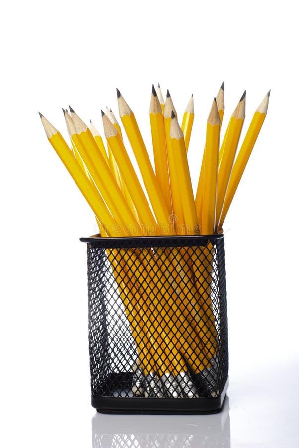 желтый цвет карандашей стоковое изображение rf